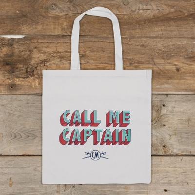 Call Me Captain White Tote Bag
