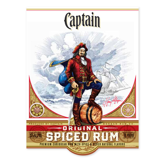 CAPTAIN MORGAN CUSTOM LABEL
